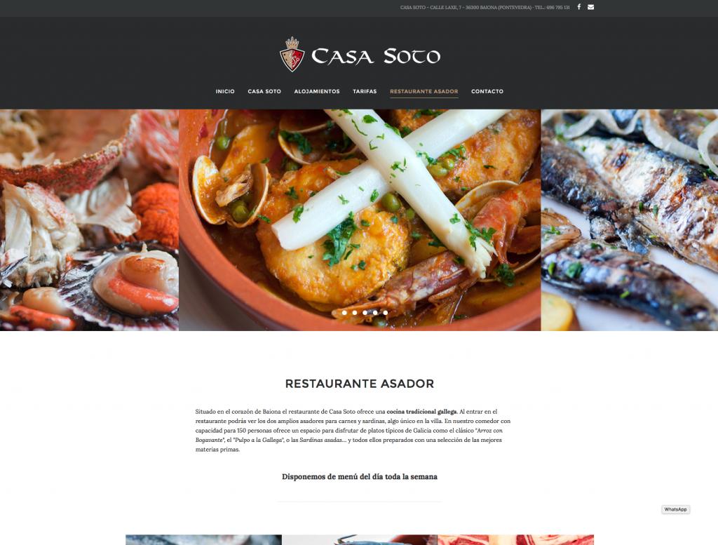 Páxina Web Casa Soto