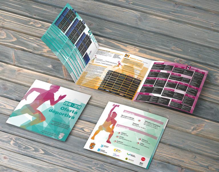 Tríptico programación deportes Concello de Baiona